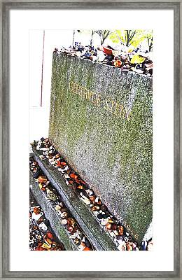 buried Gertrude Stein Framed Print