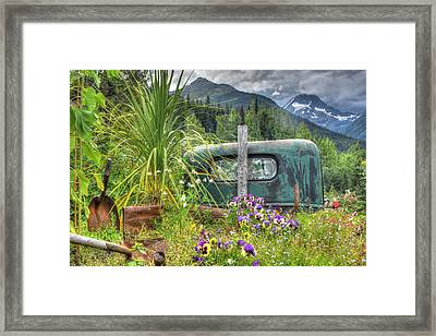 Buried In Beauty Framed Print