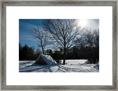 Buried In Snow Framed Print