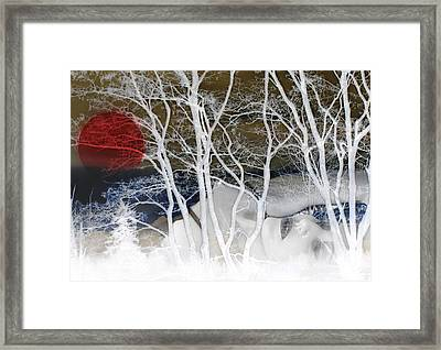 Buried Pain - Self Portrait Framed Print
