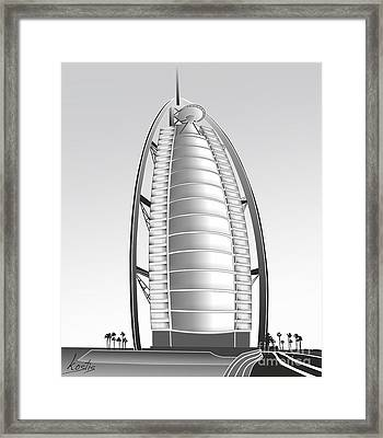 Burj Al Arab Framed Print