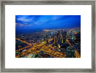 Burj Khalifa View Framed Print by Ian Good