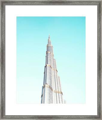 Burj Khalifa Framed Print by Happy Home Artistry