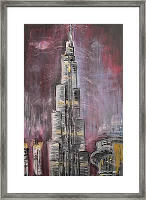 Burj Khalifa Framed Print by Sladjana Lazarevic