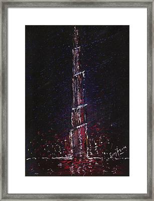 Burj Khalifa - Tallest Building - Dubai Framed Print by Remy Francis