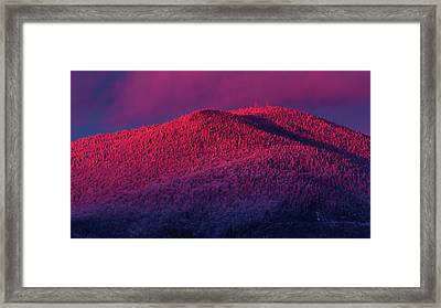 Burke Alpenglow Framed Print