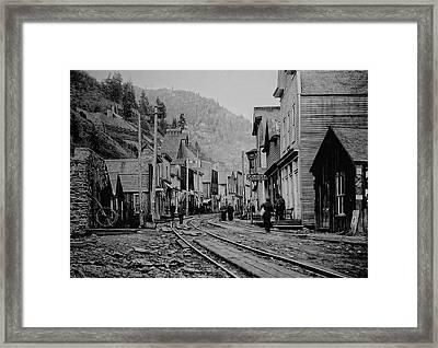 Burke Idaho Ghost Town In Its Prime Framed Print by Daniel Hagerman