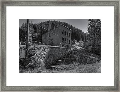 Burke Idaho Mining Ghost Town Framed Print by Daniel Hagerman