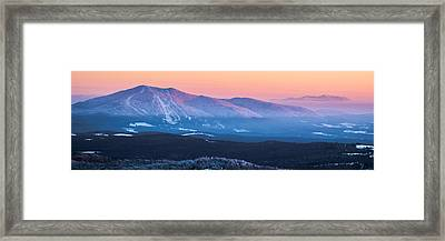 Burke To Moosilauke Framed Print by Tim Kirchoff