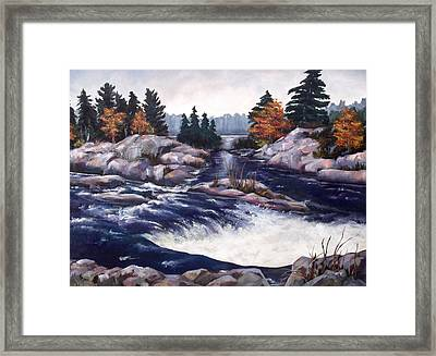 Burleigh Falls Framed Print by Diane Daigle