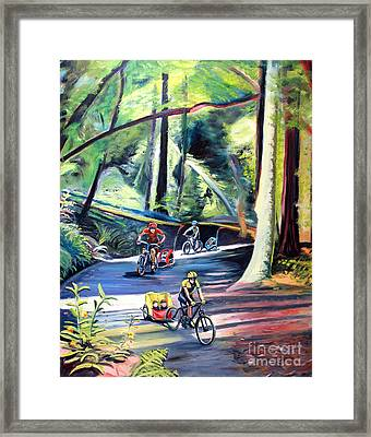 Burley Bike Parade On Shaver Grade Framed Print by Colleen Proppe