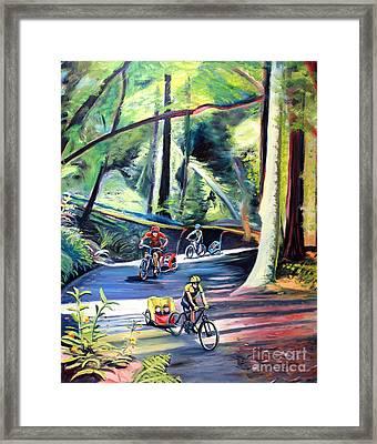 Burley Bike Parade On Shaver Grade Framed Print by Colleen Proppe