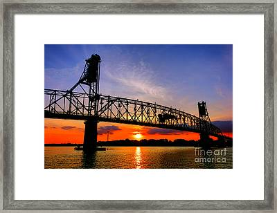Burlington Bristol Bridge Sunset  Framed Print