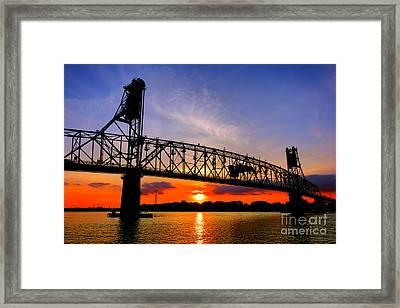 Burlington Bristol Bridge Sunset  Framed Print by Olivier Le Queinec