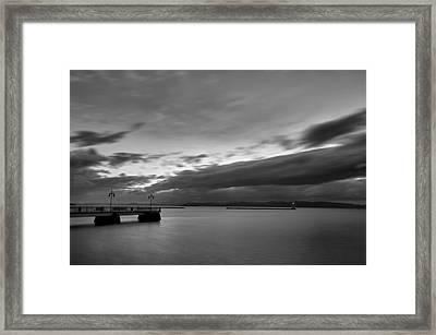 Burlington Pier Framed Print