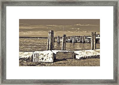 Burlington Pier Framed Print