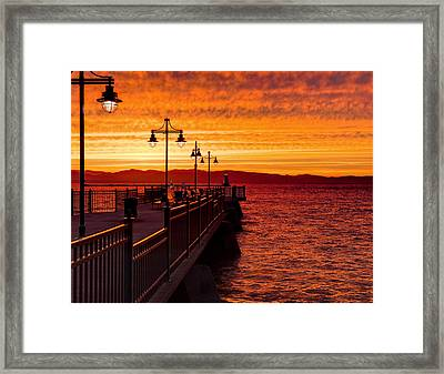 Burlington Sunset Framed Print
