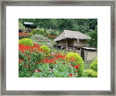 Burma Village Framed Print by John Johnson