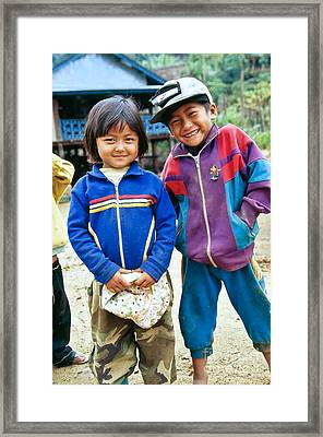 Burmese Brother & Sister Framed Print by Inga Spence