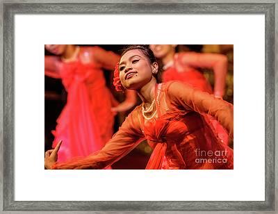 Burmese Dance 1 Framed Print by Werner Padarin
