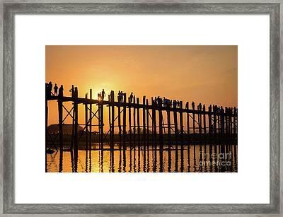 Burmese Sunset Framed Print