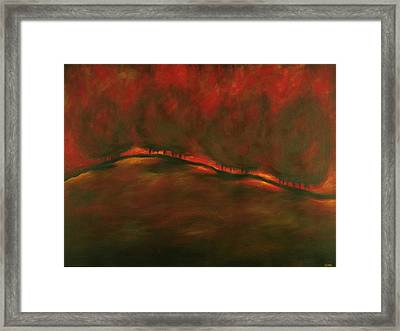 Burn Framed Print by Ellen Lewis
