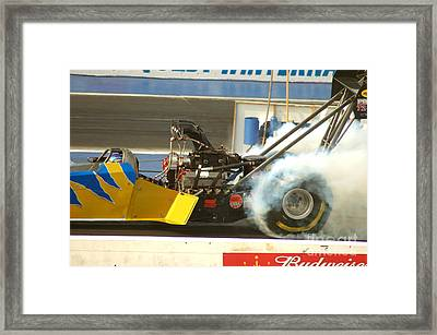 Burn Out On The Track Framed Print