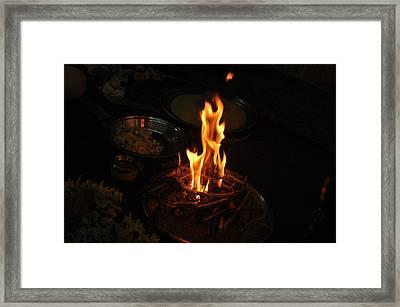 Burn Smoke Framed Print by Butterfly ADS Edwin
