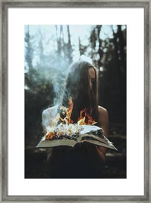 Burn Framed Print by TJ Drysdale