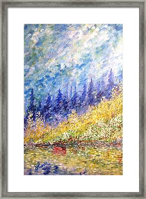 Burnaby Lake Framed Print by Georges St Pierre