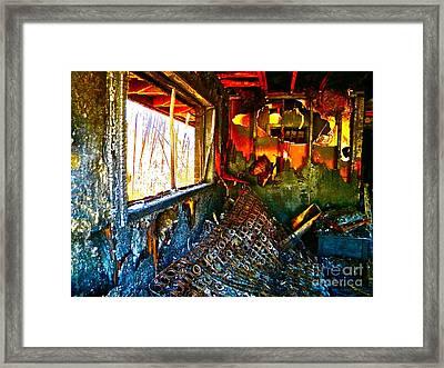 Burned Framed Print by Chuck Taylor