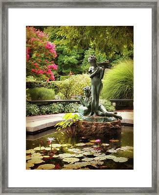 Burnett Fountain Garden Framed Print by Jessica Jenney