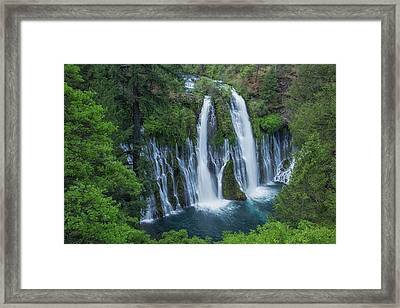 Framed Print featuring the photograph Burney Creek Falls by Patricia Davidson