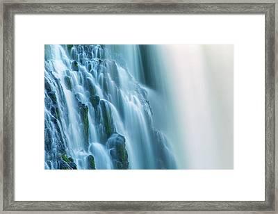 Burney Falls Close Up Framed Print