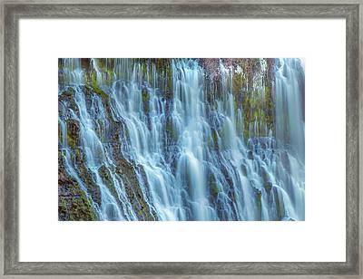 Burney Falls Detail Framed Print