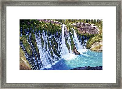 Burney Falls Framed Print by Donald Neff