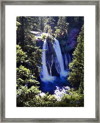 Burney Falls Framed Print by Frank Wilson