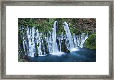 Burney Falls II Framed Print by Sun Gallery Photography Lewis Carlyle
