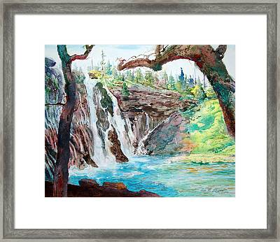 Burney Falls Framed Print by John Norman Stewart