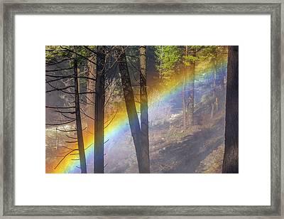 Burney Falls Mist Bow Framed Print