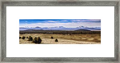Burney Mountain And Little Valley Framed Print