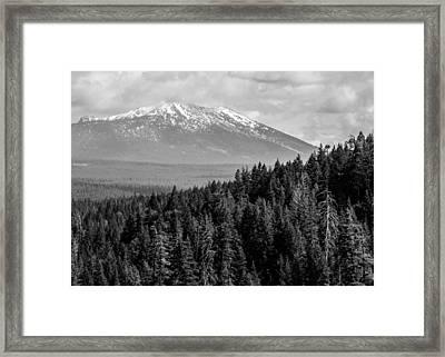 Burney Mountain Framed Print