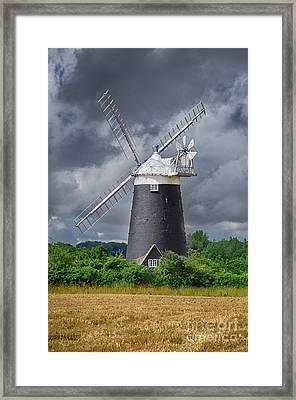 Burnham Overy Mill Framed Print by Steev Stamford