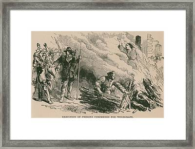 Burning At The Stake, One Of The Most Framed Print