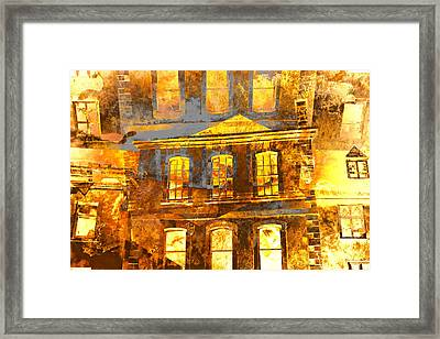 Burning Buildings Framed Print by Tom Gowanlock