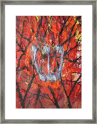 Framed Print featuring the painting Burning Bush by Mordecai Colodner