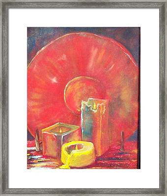 Burning Candles Framed Print by Lynda McDonald