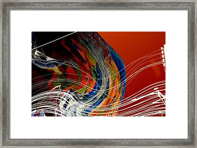 Burning City Sunset Framed Print