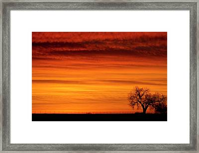 Burning Country Sky Framed Print by James BO  Insogna