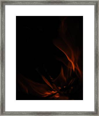 Burning Desire Framed Print by Kimberly Camacho